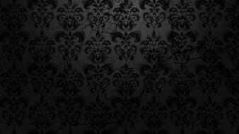 Black floral pattern Wallpaper