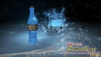 Bottles nuka cola quantum digital art nuka-cola wallpaper