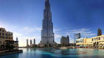 Buildings burj khalifa towers wallpaper