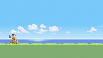 Calvin and hobbes 16-bit 16bit 16 bit wallpaper