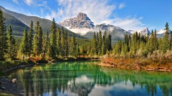 Canadian forests landscapes mountains natural scenery wallpaper