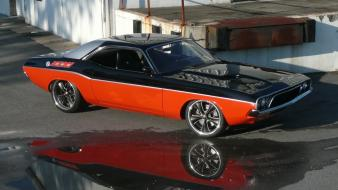 Cars hot rod dodge challenger classic 1972 custom wallpaper