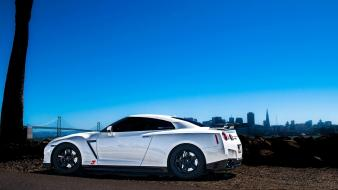 Cars nissan white gt-r gtr wallpaper