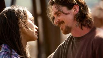 Christian bale zoe saldana still Wallpaper