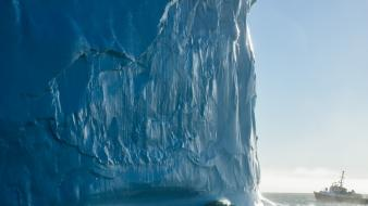 Coast eastern green iceberg landscapes wallpaper