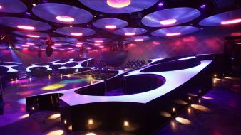 Design bar lighting night club neon lounge Wallpaper