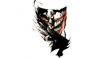 Fan art white background bruce wayne villians wallpaper