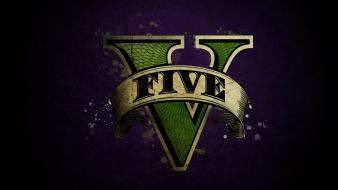Grand theft auto v gta logo wallpaper