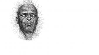 Grayscale samuel l. jackson artwork vince low Wallpaper