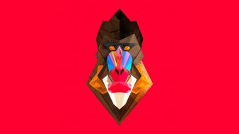 Justin maller abstract animals baboon digital art wallpaper