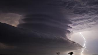 Kansas national geographic cumulonimbus lightning bolts nature wallpaper