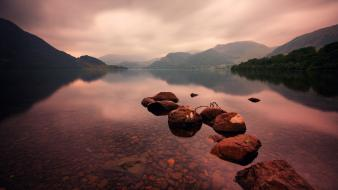 Lake district (uk) lakes rivers reflections cumbria wallpaper