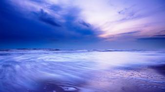 Landscapes dusk sea wallpaper