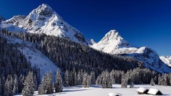 Landscapes mountains snow winter wallpaper