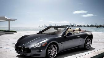 Maserati grancabrio convertible pavement wallpaper