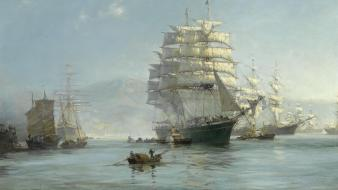 Montague dawson artwork ocean paintings sail ship wallpaper