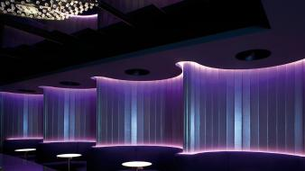 Night club luxury mira neon interior lounge wallpaper