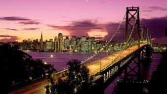 Night san francisco bay bridge Wallpaper