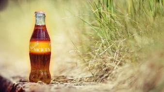 Nuka cola quantum bottles drinks grass wallpaper