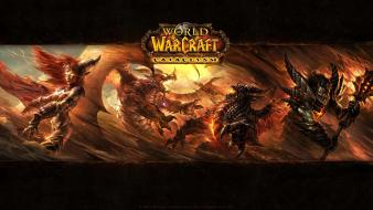 Of warcraft deathwing blizzard entertainment alexstrasza widescreen wallpaper