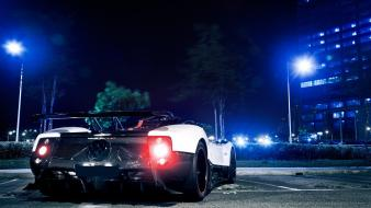 Pagani zonda cinque cars cities lights night wallpaper