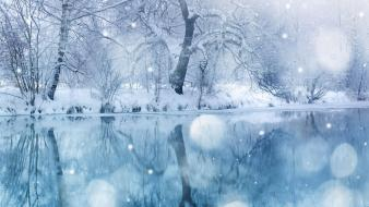 Pc nature snow winter wallpaper