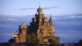 Russia churches islands kizhi wallpaper