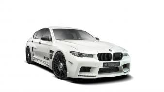 Studio bmw m5 hamann white background wallpaper
