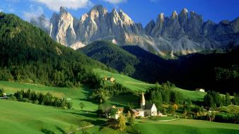 Summer italy villages alps light blue val Wallpaper