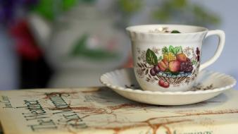 Tea cups healthy drinking wallpaper