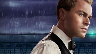 The great gatsby actors blue eyes men wallpaper