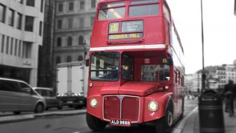 White red tower england london bus double-decker wallpaper