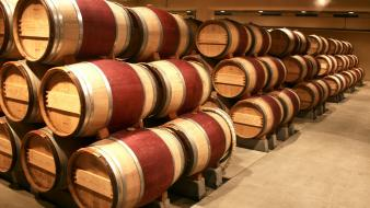 Wood alcohol wine objects warehouse barrels wallpaper