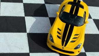 Yellow cars race static srt viper wallpaper