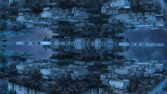 Abstract backgrounds digital art port science fiction wallpaper
