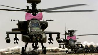 Ah-64 apache bow helicopters pink wallpaper