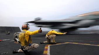 Aircraft carriers carrier deck flight control wallpaper
