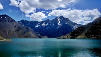 Alto maipo andes chile clouds lakes wallpaper