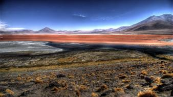Andes bolivia steppe blue brown wallpaper