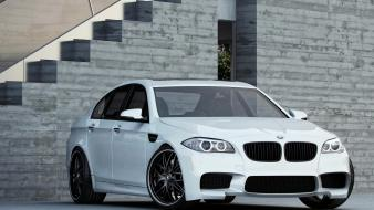 Angel eyes bmw m5 f10 cars headlights rims wallpaper