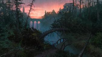 Artwork digital art fantasy forests landscapes Wallpaper