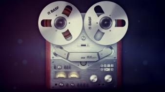 Audio reel tapes retro technic Wallpaper