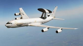 Awacs e-3 sentry nato aircraft air force wallpaper