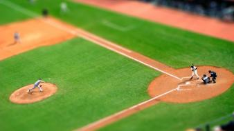 Baseball field sports tilt-shift wallpaper