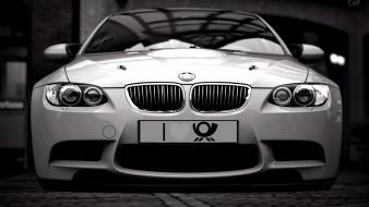Bmw cars front view silver sport wallpaper