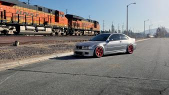 Bmw m3 e46 cars roads trains wallpaper