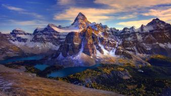 British columbia canada mount assiniboine canadian rockies lakes wallpaper