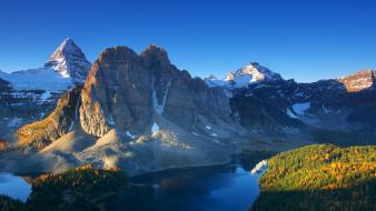 British columbia canada mount assiniboine national geographic dawn wallpaper