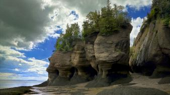 Canada vinh fundy clouds erosion landscapes Wallpaper