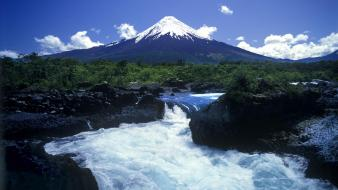 Chile landscapes mountains nature rivers wallpaper